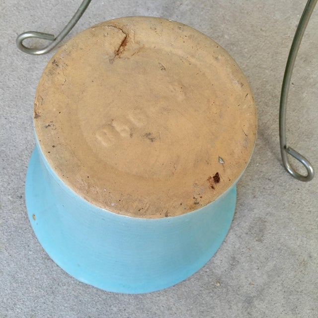 MCM Bauer Bullet Planter in Aqua + Brass - Image 6 of 8