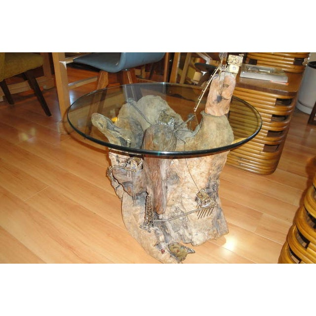 Unique Torch-Cut / Driftwood End Table - Image 5 of 8