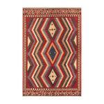Image of Apadana - Red & Blue Zig Zag, 6 x 9 Vintage Kilim