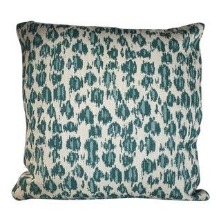 Kim Salmela Aqua Animal Print Pillow