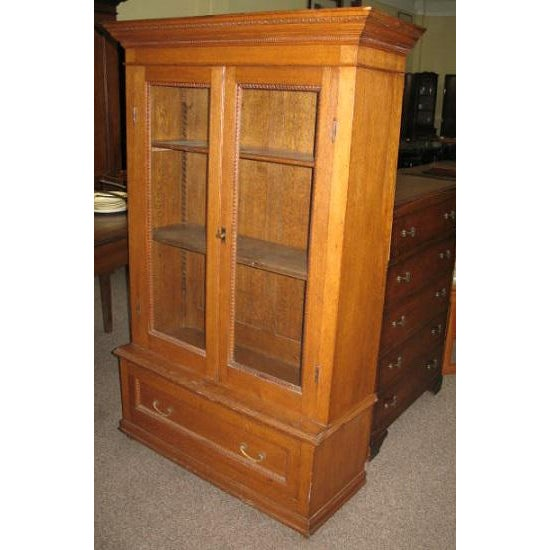 Antique American Oak Bookcase - Image 5 of 7
