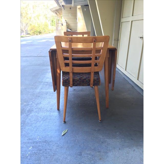 Mid-Century Modern Drop Leaf Wood Table - Image 8 of 8