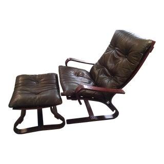 Mid-Century Modern Danish Komfort Lounge Chair & Ottoman