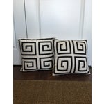 Image of Black & White Greek Key Pillows - A Pair