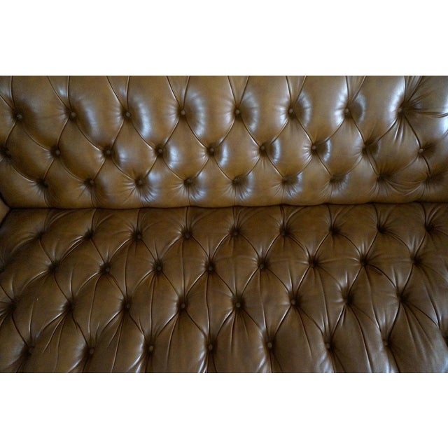 Schafer Bros Leather Chesterfield Tufted Sofa Chairish