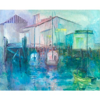 Monterey Fishing Boats Oil Painting
