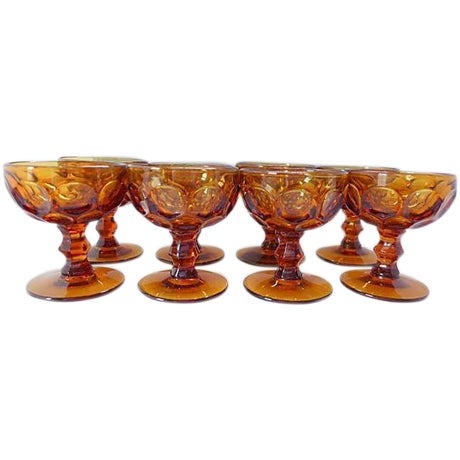 Amber Sherbet Glasses - Set of 8 - Image 1 of 6