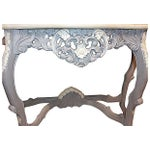 Image of Carved Rocco-Style Marble-Top Console