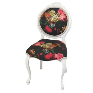 Baroque Floral Accent Chair