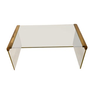 Pace for Leon Rosen Brass & Glass Coffee Table