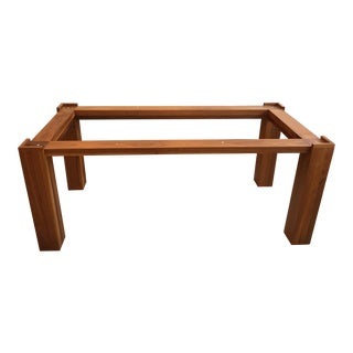 De La Espada Modern Walnut Glass Table