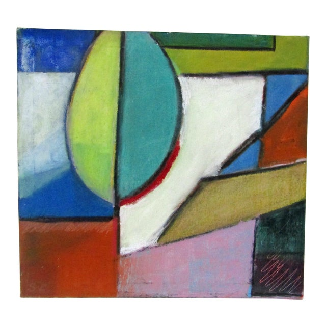 Original Signed Large Colorful Abstract Painting - Image 1 of 8