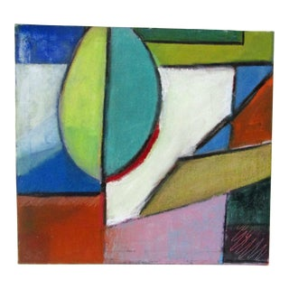 Original Signed Large Colorful Abstract Painting