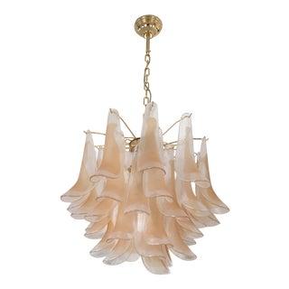 Mazzega Murano Glass Petal Chandelier