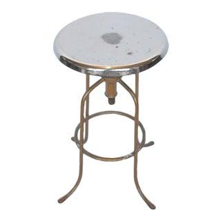 1940's American steel adjustable height stool