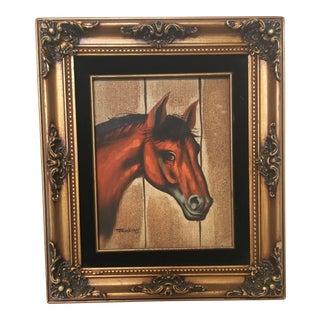 Vintage Framed Horse Portrait