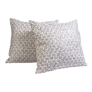Graphic Pillows w/Neutral Linen Back - A Pair
