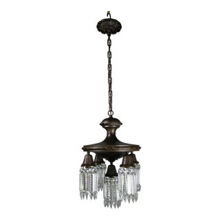 Colonial Revival Crystal Chandelier 5-Light