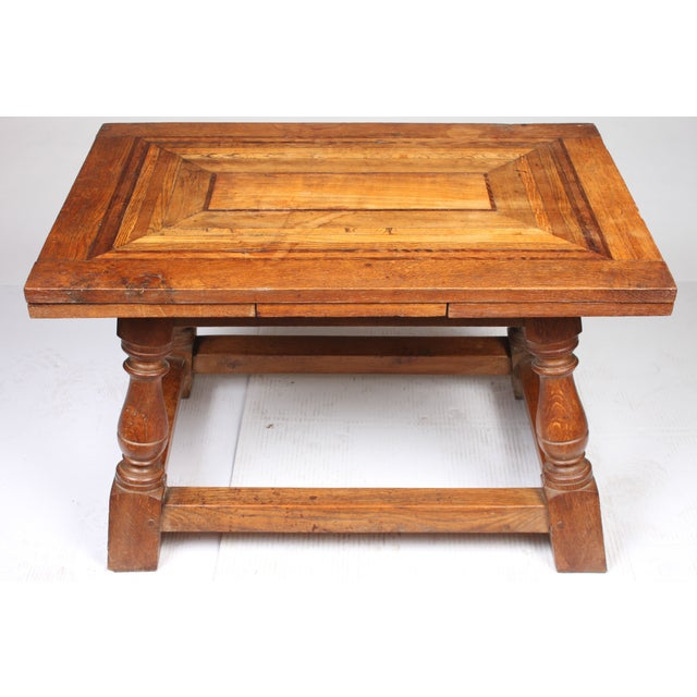1920s Cherry Mahogany & Oak Coffee Table - Image 3 of 7