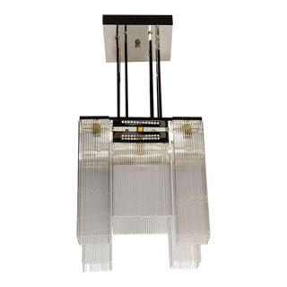 French Art Deco Style Chandelier in the manner of Joseph Hoffmann