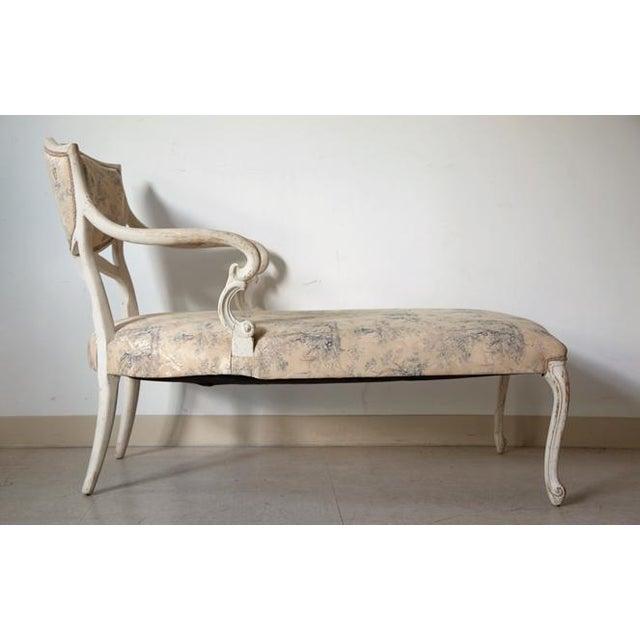 antique louis xvi style chaise chairish. Black Bedroom Furniture Sets. Home Design Ideas