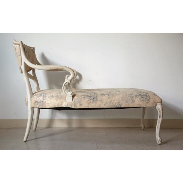 Antique louis xvi style chaise chairish for Antique style chaise