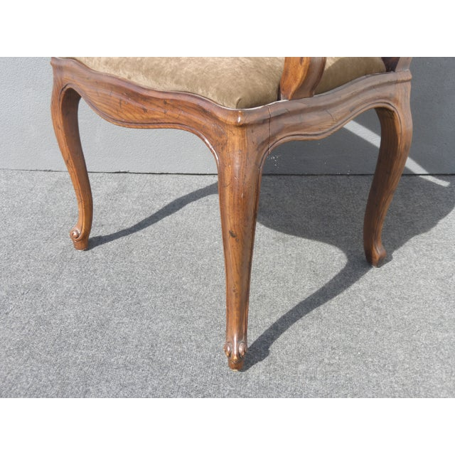 French Henredon Mohair Dining Chairs - Set of 6 - Image 8 of 11