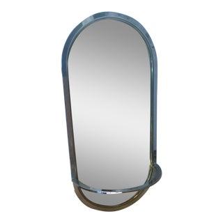DIA Mid-Century Modern Brass & Chrome Mirror