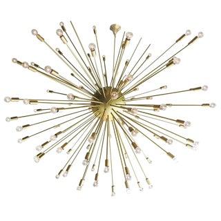 Large Mid-Century Style Sputnik Chandelier in Brass