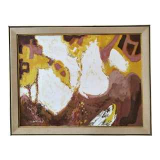 1970's Abstract Oil Painting by Jaun v. Marisco