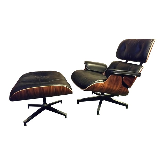 Image of 50th Anniversary Eames Herman Miller Lounge Chair