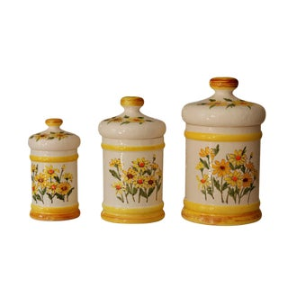 1976 Sears Roebuck & Co. Kitchen Storage Jars, Set of 3