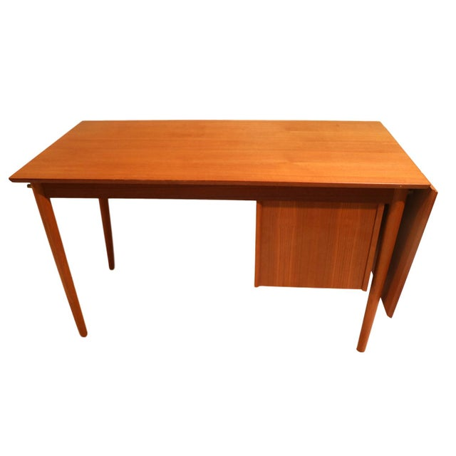 Arne Vodder Mid-Century Danish Teak Drop Leaf Desk - Image 8 of 10