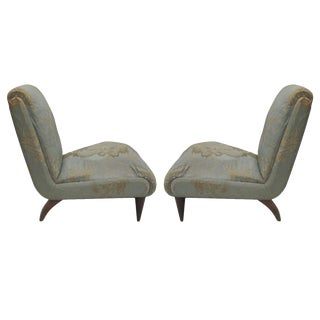 Pair of Italian Slipper Chairs by Guglielmo Ulrich
