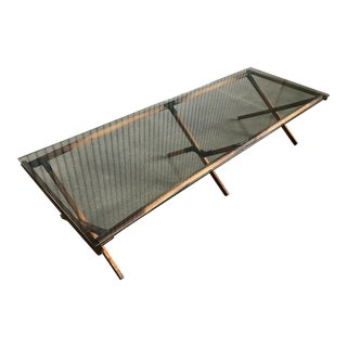 Mid-Century Industrial Modern Army Style Camp Cot Coffee Table