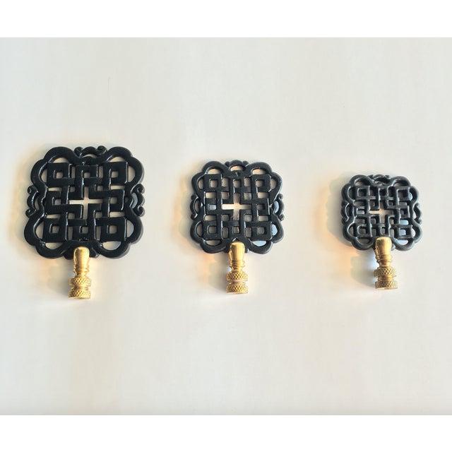 Image of Hillary Thomas Black Lamp Finials - Set of 3