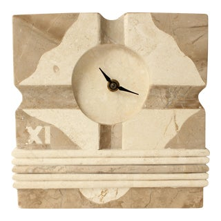 Tessellated Marble Desk Clock