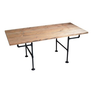 American Iron Pipe & Wooden Table