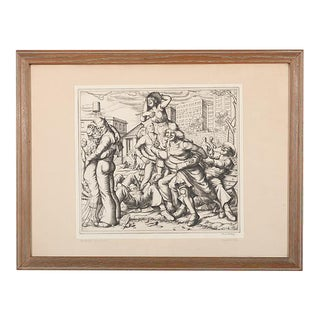 "1935 Paul Cadmus ""Shore Leave"" Original Ltd. Ed. Etching-1st Edition-Rare"