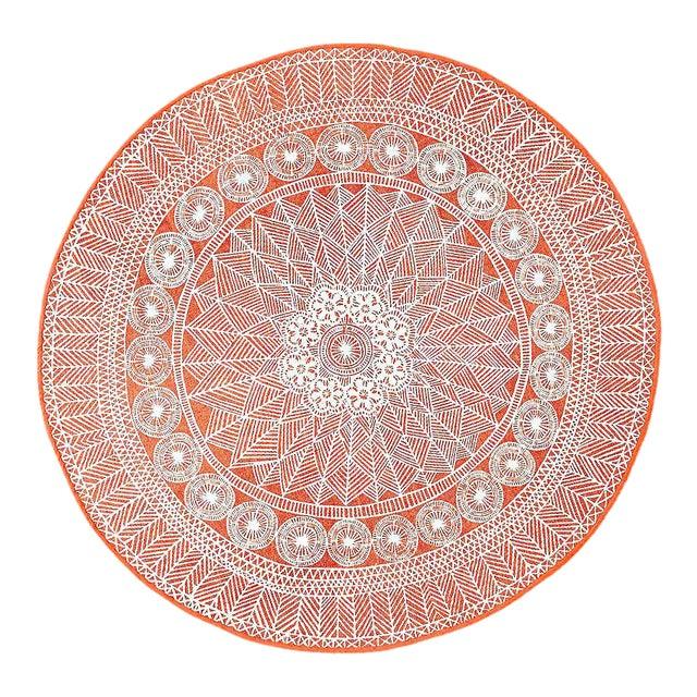 Bohemian Floral Medallion Rug- 5' - Image 1 of 7