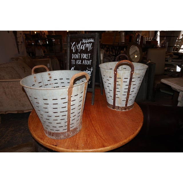 Vintage Metal Olive Bucket - Image 2 of 5