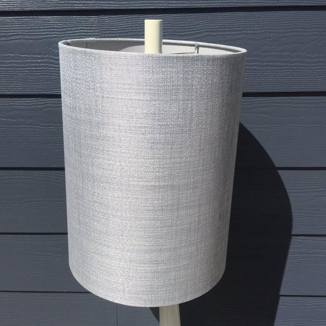 Mid-Century Modern Milk Glass Lamp - Image 4 of 5