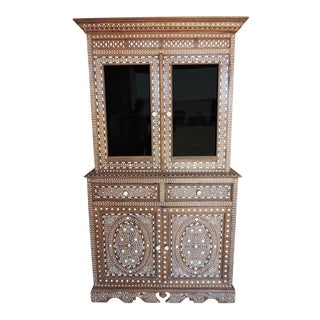 Vintage Colonial Glass Cabinet