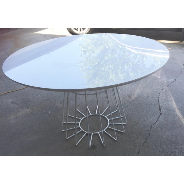 CB2 Ceci Thompson White Compass Dining Table - Image 4 of 5