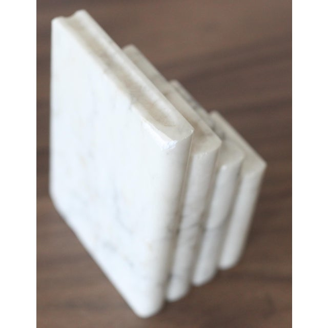 Vintage Italian Marble Stacked Books Bookends - Pair - Image 5 of 6