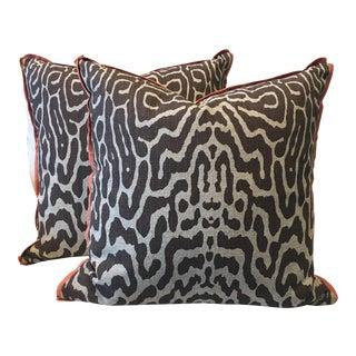 Safari Cocoa Pillows - A Pair