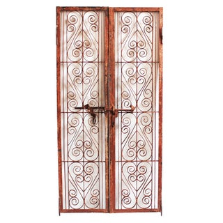 Vintage Indian Iron Scroll Gate