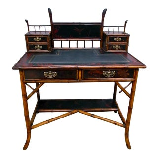 Antique Bamboo Writing Desk