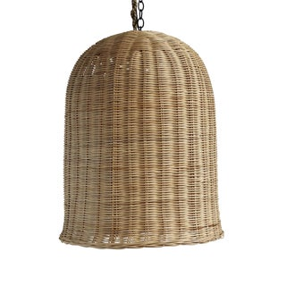 Bell Raw Wicker Lantern Medium