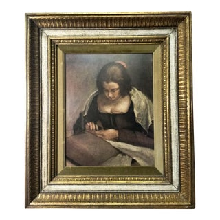 "Catalda Fine Arts ""Needle Woman"" Lithographic Print"